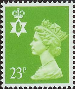 1988 GB - SGNI56 (XNL40) 23p Bright Green (Q) ACP MNH