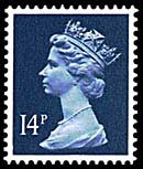 1988 GB - SGX903y (U230x) 14p Deep Blue SD1 H. Coil Single MNH