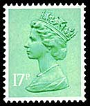 1980 GB - SGX0951 (U245x) 17p Light Emerald (H) FCP PCP1 MNH