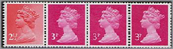 1981 GB - SGX929l (RD1) 11½p Multi-Value Coil Strip (4) UMC9 MNH