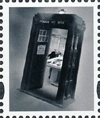 2013 GB - L80 - Tardis LABEL in Black and White from DY6 MNH