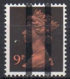 1971 GB - SGX882 9p Orange and Black (H) 2B Training Bars MNH