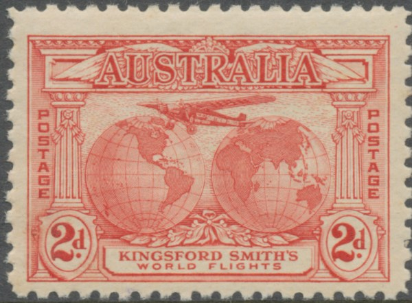 1931 AUS - SG121 2d Kingford Smith's World Flights MNH