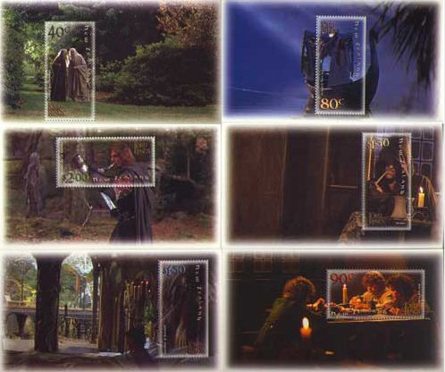 2001 NZ - Lord of Rings Fellowship Set (6) Miniature Sheets MNH