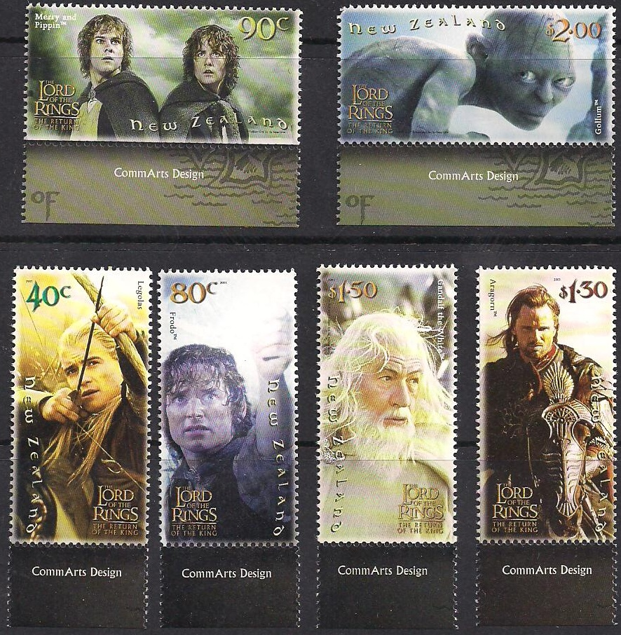2003 NZ - Lord of Rings Return of the King Marginal Set (6) MNH