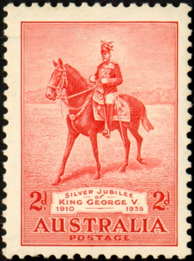 1935 AUS - SG156 2d King George V's Silver Jubilee MNH