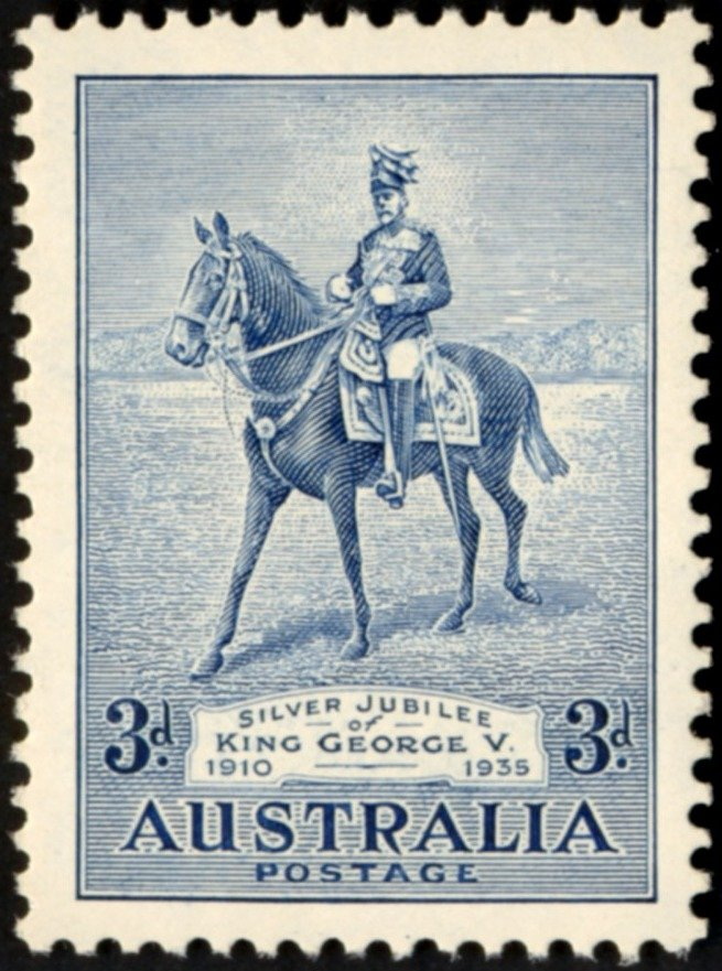 1935 AUS - SG157 3d King George V's Silver Jubilee MM