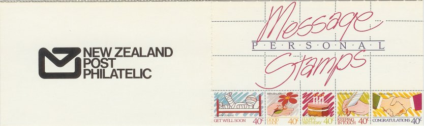 1988 NZ - SB047 $2.00 Personal Message Stamps