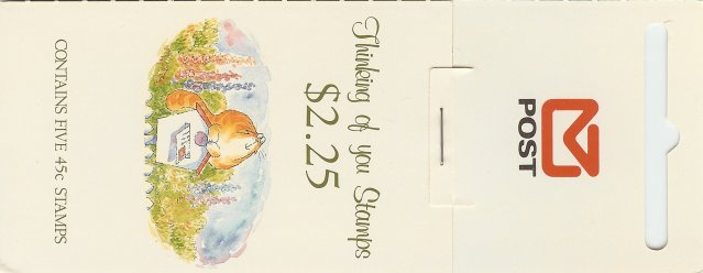1991 NZ - SB058 $2.25 Thinking of You (open) [Hang-Sell]