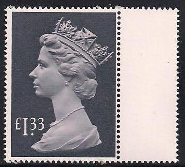 1984 GB - SG1026c (UF3) £1.33 (H) Tall Gutter Single MNH