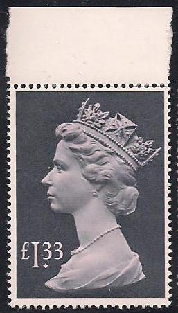 1984 GB - SG1026c (UF3) £1.33 (H) Tall Top Marginal MNH