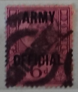 1887 GB - SGO45 6d Dull Purple and Rose ARMY OFFICIAL GU