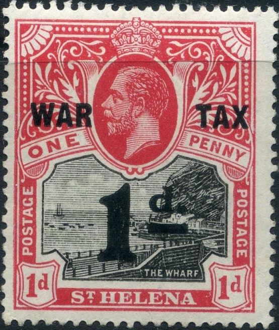 1916 - StH - SG88 1d from George V War Tax Overprint MM