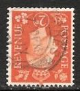 1937 GB - SG465Wi 2d Orange Inverted Watermark Used