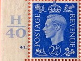 1937 GB - SG466 2½d Ultramarine Control (H40) Single MNH