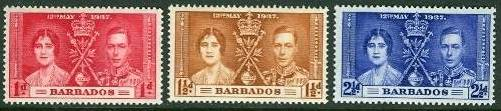1937 BAR - SG245-47 GVI Coronation Set (3) MM