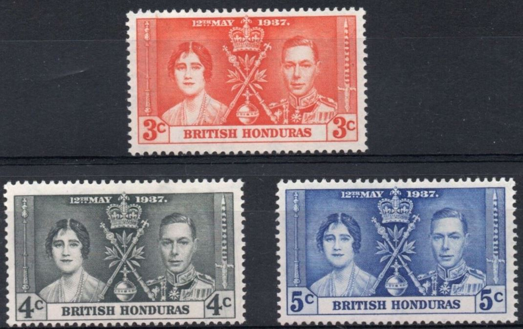 1937 Br Honduras - SG147-49 GVI Coronation Set (3) MM