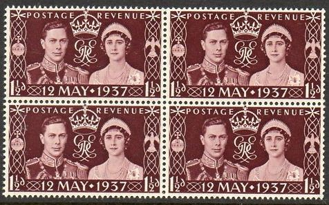 1937 GB - SG461 Coronation Block of 4 MNH