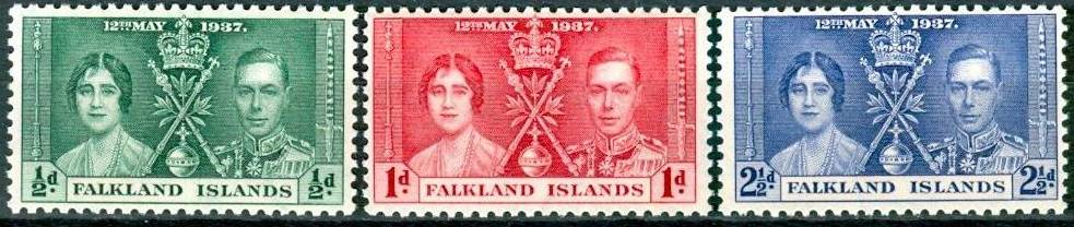 1937 FALK - SG143-45 GVI Coronation Set (3) VFU