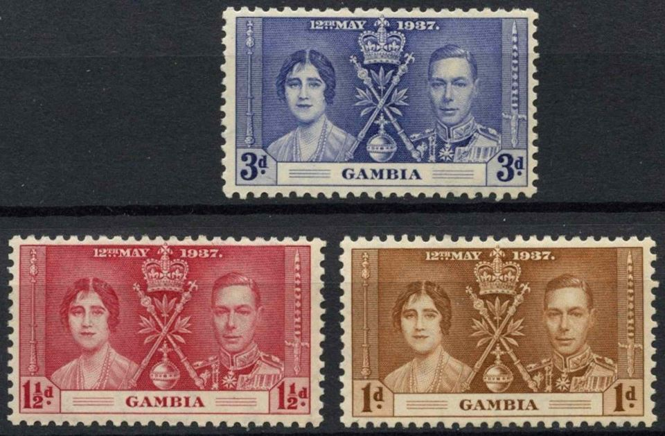 1937 Gambia - SG147-49 GVI Coronation Set (3) MM