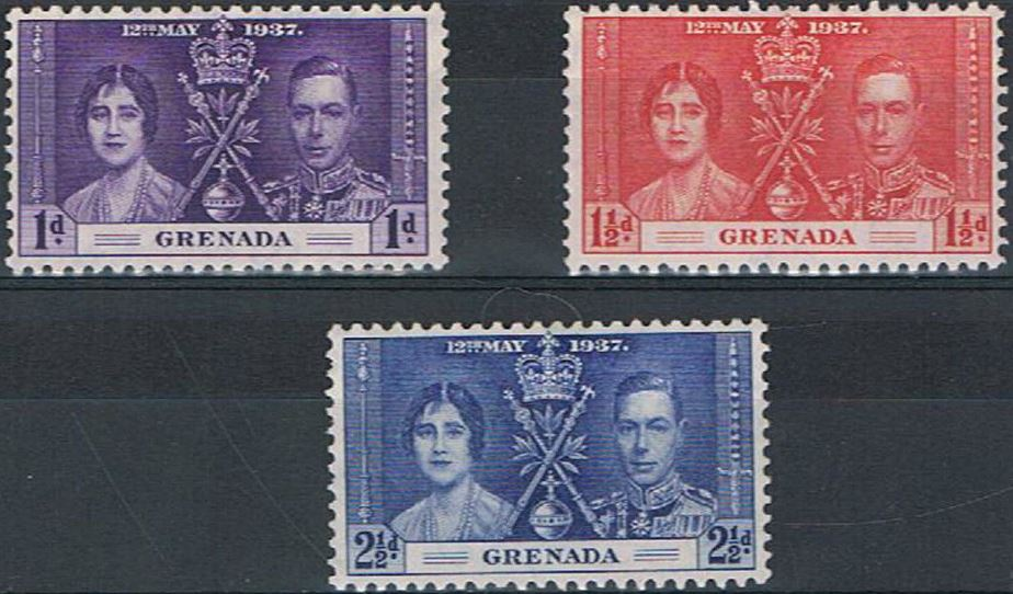 1937 Grenada - SG141-43 GVI Coronation Set (3) MM