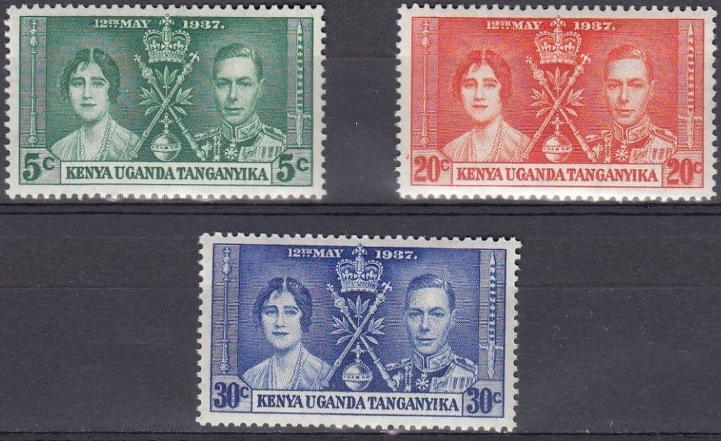 1937 KUT - SG128-30 GVI Coronation Set (3) MM