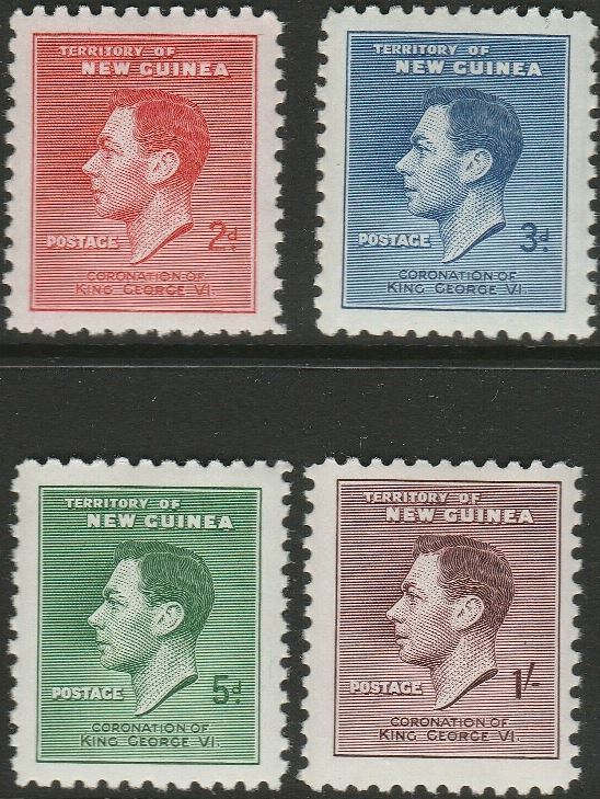 1937 New Guinea - SG0208-211 GVI Coronation Set (4) MM