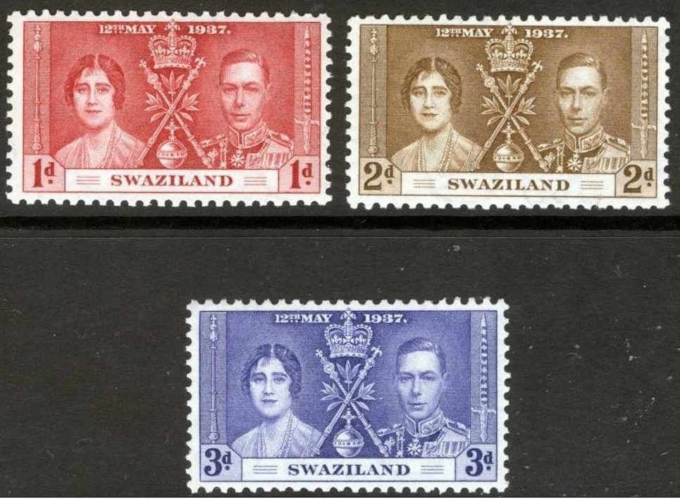1937 Swaziland - SG25-27 GVI Coronation Set (3) MM