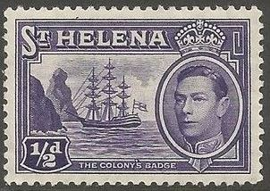 1938 - StH - SG131 ½d from George VI Ships Definitive Set MM