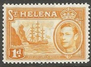 1938 - StH - SG132 1d from George VI Ships Definitive Set MM