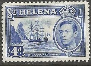 1938 - StH - SG135 4d from George VI Ships Definitive Set MM