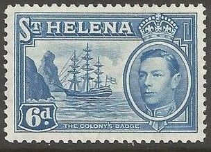 1938 - StH - SG136 6d from George VI Ships Definitive Set MM
