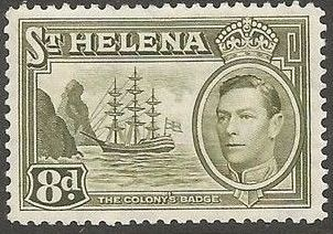 1938 - StH - SG137 8d from George VI Ships Definitive Set MM
