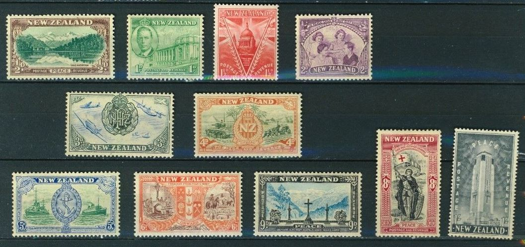 1946 NZ - SG667-677 Peace Issue Set (11) MM