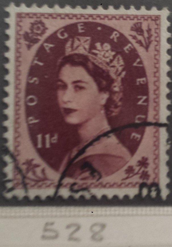 1952-54 GB - SG528 11d Brown Purple Tudor Wmk VFU