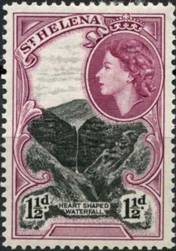 1953 - StH - SG155 1½d Waterfall from 1st QEII Definitive Set MM