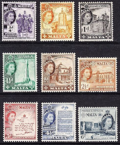 1956 MLT - SG266-78 QEII Definitive Short Set to 2/- (11) VFU