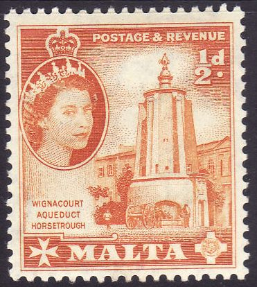 1956 MLT - SG267 QEII ½d Definitive MM