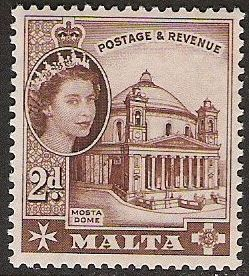 1956 MLT - SG270 QEII 2d Definitive MM