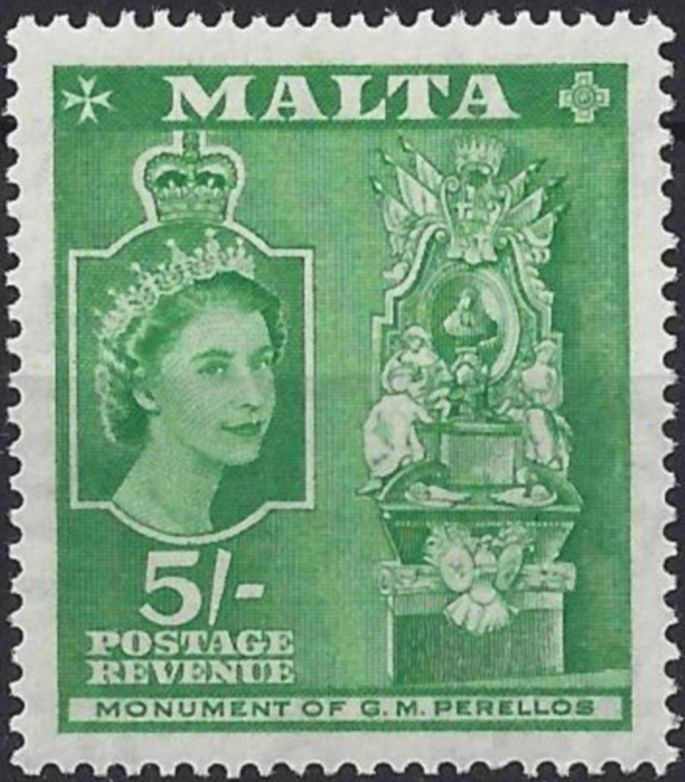 1956 MLT - SG280 QEII 5/- Definitive MNH