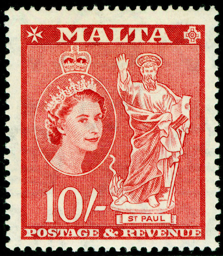1956 MLT - SG281 QEII 10/- Definitive MNH