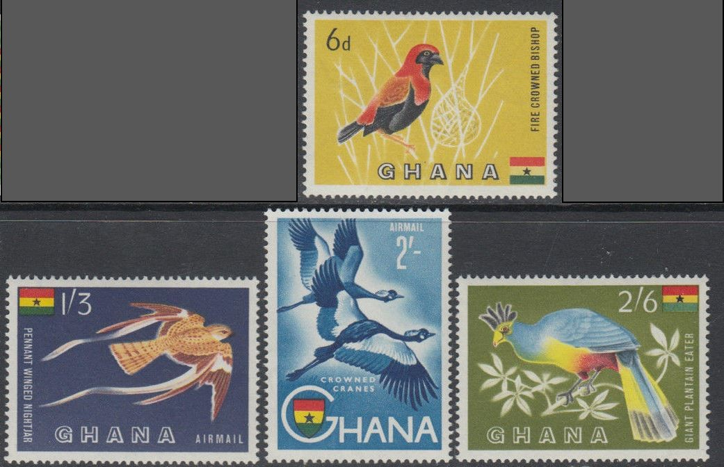 1959 GHA - Birds from the Flora and Fauna Set (4) VFU