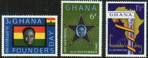 1960 GHA - Founder's Day Set (4) MNH