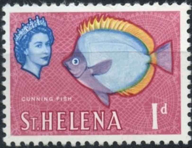 1961 - StH - SG176 1d Cunning Fish Definitive MNH