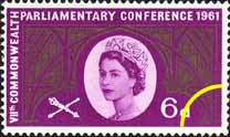 1961 GB - SG629 7th Commonwealth Parliamentary Conference 6d MNH