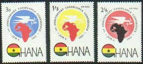 1962 GHA - Heads of State Conf Set (3) MNH