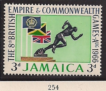 1966 JAM - SG254 - 3d 8th Commonwealth Games MM