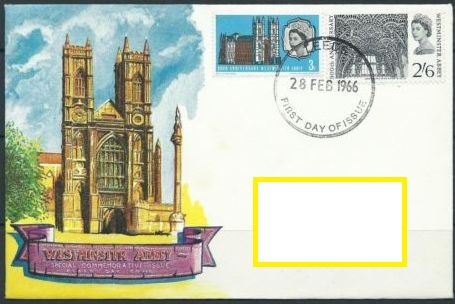 1966 GB - FDC 900th Anniversary Westminster Abbey Set Addressed