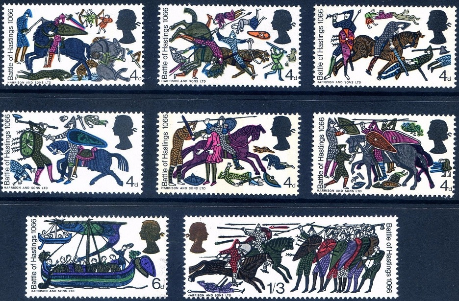 1966 GB - Battle of Hastings Complete Singles Set (8) Ord MNH