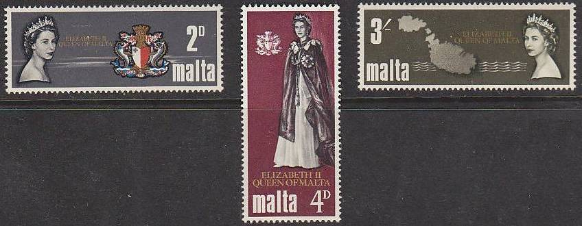 1967 MLT - SG396-98 QEII Royal Visit Set (3) MNH